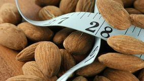 Almond and Measurement Macro View. Video stock video