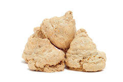 Almond and meringue biscuits Royalty Free Stock Images