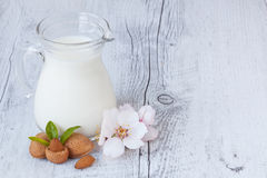 Almond milk Royalty Free Stock Image
