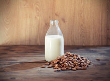 Almond milk royalty free stock photography