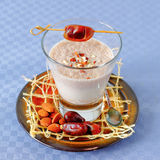 Almond milk and dates smoothie Royalty Free Stock Photography