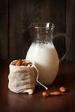 Almond milk. Royalty Free Stock Image