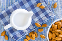 Almond milk Royalty Free Stock Image
