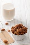 Almond milk organic healthy nut vegan vegetarian drink Stock Photography