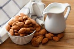 Almond milk organic healthy nut vegan vegetarian drink Royalty Free Stock Photography