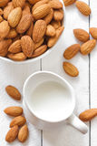Almond milk Royalty Free Stock Images