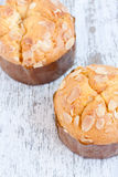 Almond muffin Stock Photos