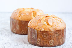 Almond muffin Royalty Free Stock Image