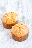 Almond muffin Royalty Free Stock Photo