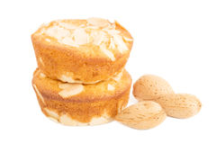 Almond muffins Stock Photo