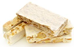 Almond nougat Stock Photo