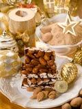 Almond nougat brittle Stock Photo
