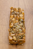 Almond nougat and honey turron bar Royalty Free Stock Photos