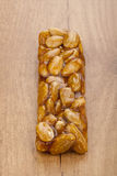 Almond nougat and honey turron bar Stock Image