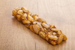 Almond nougat and honey turron bar Stock Images