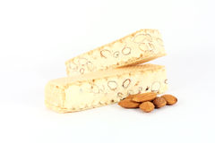 Almond nougat, mandolat Royalty Free Stock Images