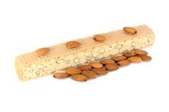 Almond nougat, mandolat Stock Photo