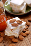 Almond nougat pieces Royalty Free Stock Photography