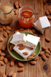 Almond nougat pieces Stock Photography