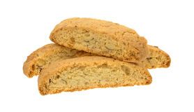Almond nut biscotti on a white background Stock Photos
