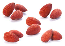 Almond nut fruit set Royalty Free Stock Image