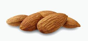 Almond nut isolated. Almond slice. Full depth of field. Almond. Almond nut isolated. Almond slice. Full depth of field Stock Photo
