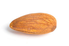 almond nut isolated on white royalty free stock photo