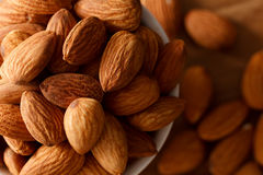 Almond nut organic healthy snack vegan vegetarian Royalty Free Stock Photo