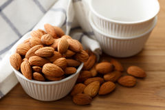 Almond nut organic healthy snack vegan vegetarian Stock Photography