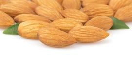 Almond nut on white Stock Photo