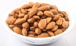 Almond Nut In White Bowl IV Stock Photo