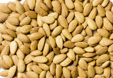 Almond nuts arrangement as a background  Stock Photography