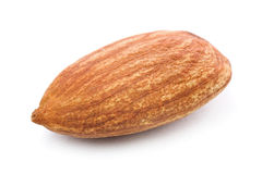 Almond nuts. Closeup of almond nuts kernel isolated on white background Royalty Free Stock Photo