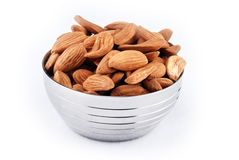 Almond nuts. Close-up of almond nut isolated Royalty Free Stock Photography