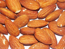 Almond nuts. Macro of almond nuts Stock Images