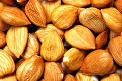 Almond Nuts. Close up for pile of almond nuts as whole background Stock Image