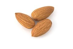 Almond nuts. On the background Stock Photography