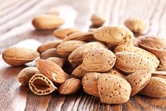 Almond nuts. Stock Image