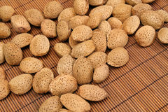 Almond nuts background Royalty Free Stock Images