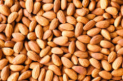 Almond nuts background. Almond nuts on the table as a background Stock Photos
