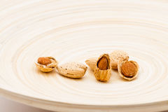 Almond Nuts On A Dish Stock Photo