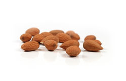 Almond nuts isolated Stock Photography