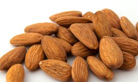Almond nuts isolated Royalty Free Stock Images