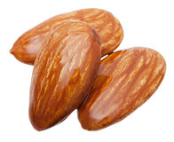 Almond nuts isolated Stock Images
