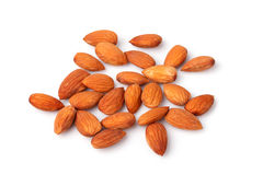 Almond nuts isolated on white background Stock Photo