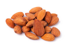 Almond nuts isolated on white background Royalty Free Stock Photography