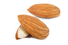 almond nuts isolated on white background Stock Image