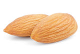 Almond Nuts On White Royalty Free Stock Photography