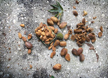 Almond nuts Stock Photo