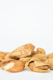 Almond nuts to stay healthy for the body. almond on white backgr Royalty Free Stock Image